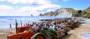 Cape kidnappers, Gannet Beach Tractor tour